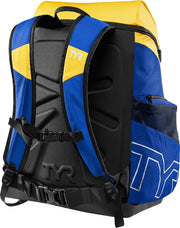 TYR ALLIANCE 45L BACKPACK -ROYAL/GOLD