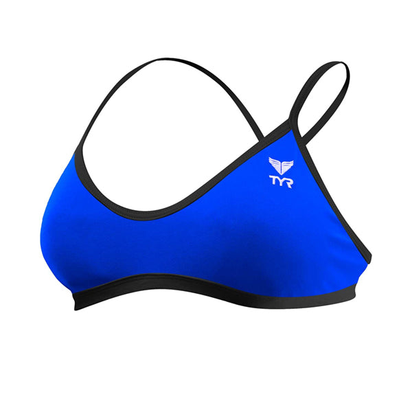 SOLID TRINITY TOP & BOTTOM TWO PIECE ROYAL/BLACK TYR