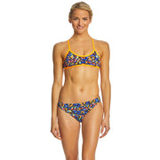 WOMENS COSTA MESA PACIFIC TIEBACK & CLASSIC BIKINI BOTTOM ORANGE/PURPLE TYR