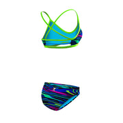 WOMENS FRESNO TRINITY TOP AND BIKINI BOTTOM BLUE/MULTI TYR