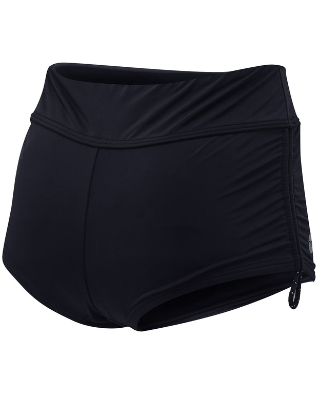 WOMENS SOLID DELLA BOYSHORT BLACK TYR