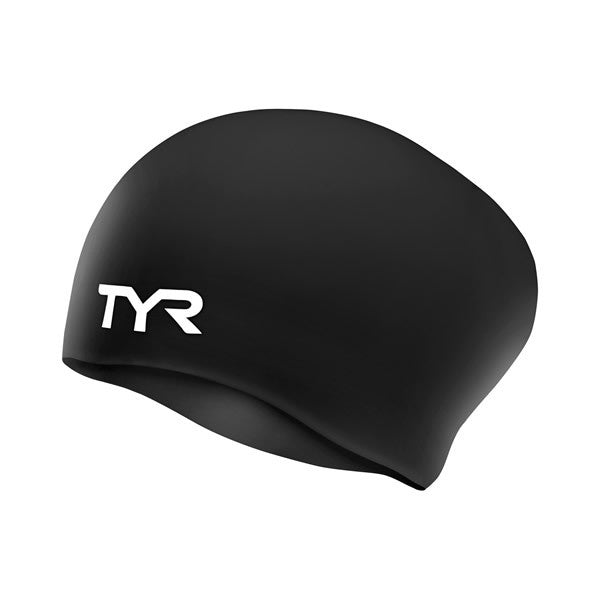 WRINKLE-FREE LONG HAIR SILICONE SWIM CAP TYR