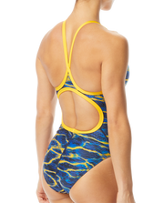 WOMENS LAMBENT DIAMOND FIT NAVY GOLD TYR