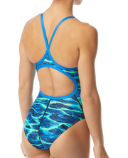 WOMENS LAMBENT DIAMOND FIT BLUE GREEN TYR