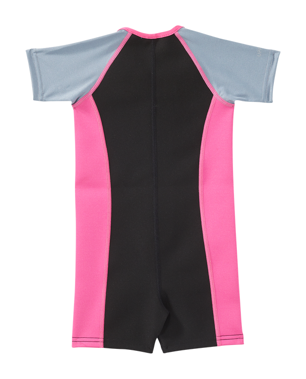 GIRLS THERMAL SUIT GREY/PINK TYR