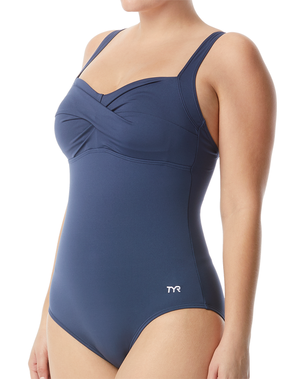 WOMENS SOLID TWISTED BRA CONTROLFIT STORM TYR