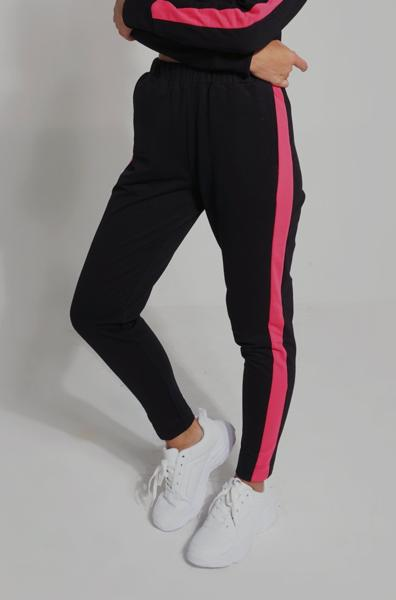 Mid Waist Track Pants With Elastic Waistband