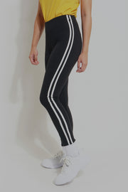 Premium Threads High Waist Leggings With Contrast taping