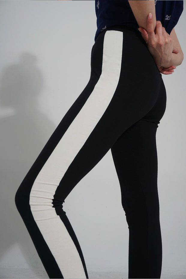 High Waisted Leggings With Cut And Sew