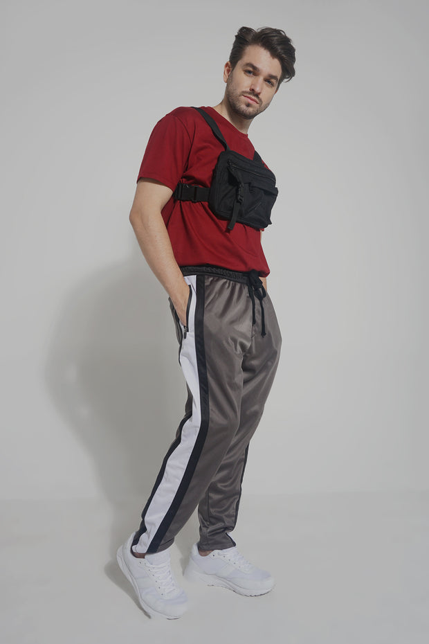 Color-Blocked Track Pants With Drawstring