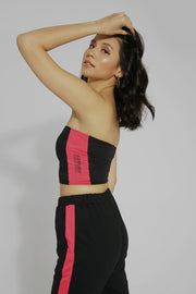 Tube Top With Neon Side Stripes