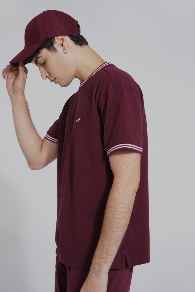 Premium Threads Boxy Fit Tee with Contrast Trims