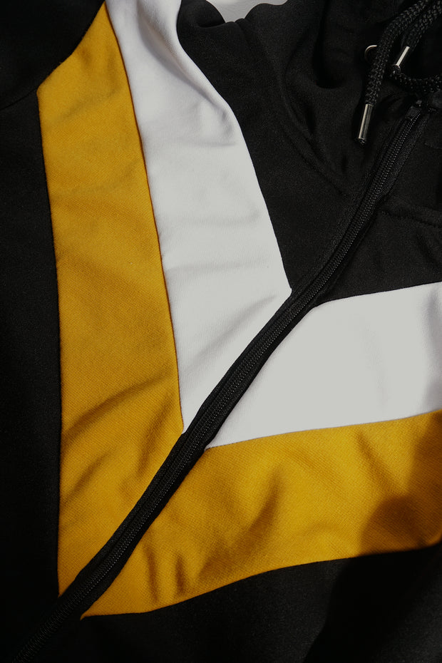 Premium Threads Hoodie with Color Blocking
