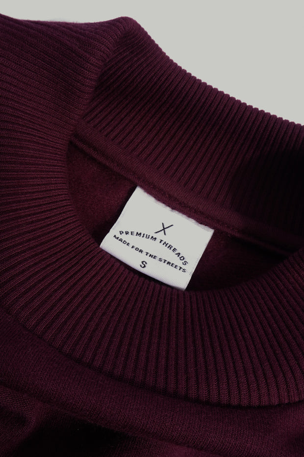 Premium Threads Cropped Pullover with Patched Pockets