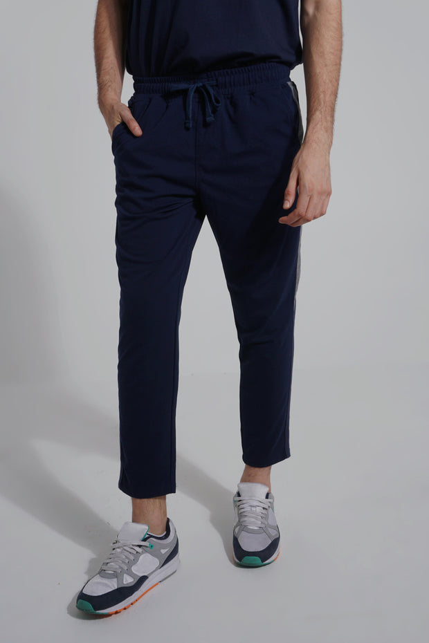 Slim Track Pants With Color Blocking
