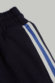 Premium Threads Slim Fit Track Pants with Contrast Taping