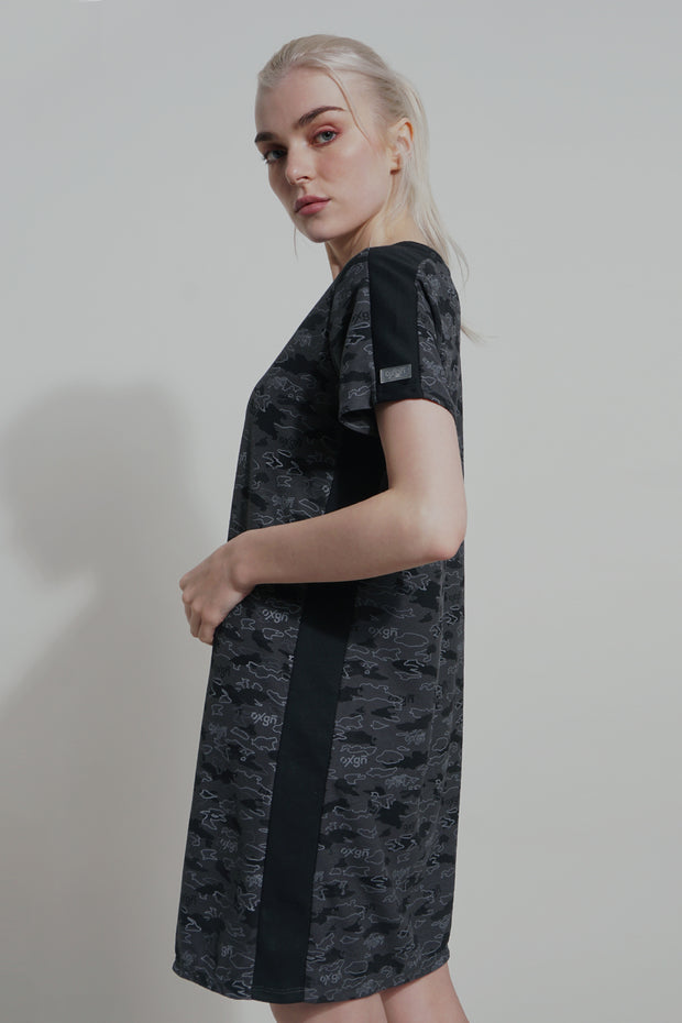 Premium Threads Printed T-shirt Dress