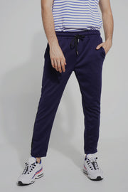 Mid Rise Track Pants With Contrast Taping
