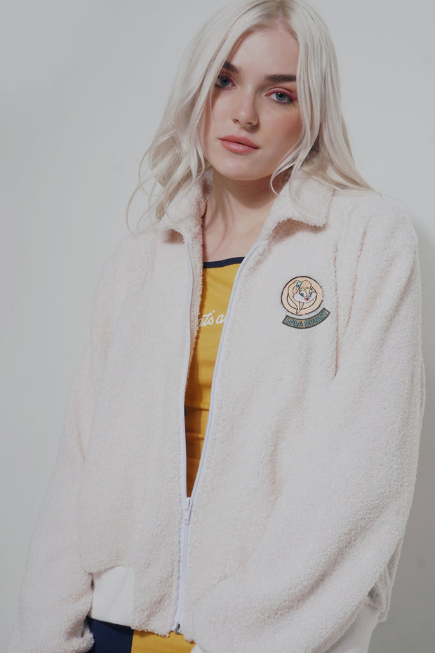 Looney Tunes Fleece Jacket With Embro Patch