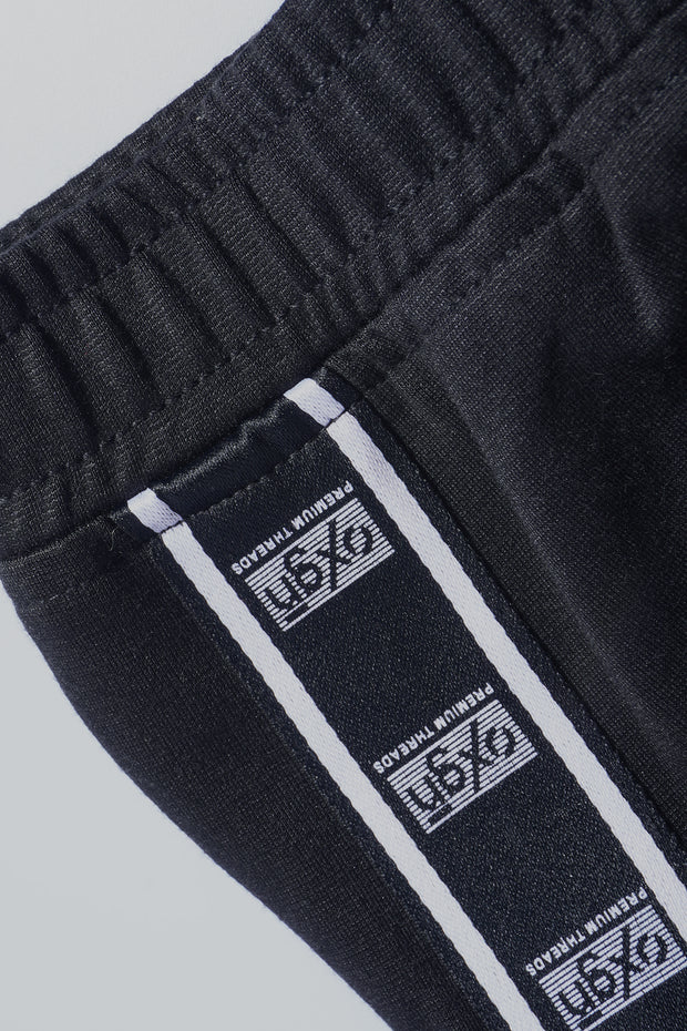 Premium Threads Slim Track Pants With Contrast Side Taping