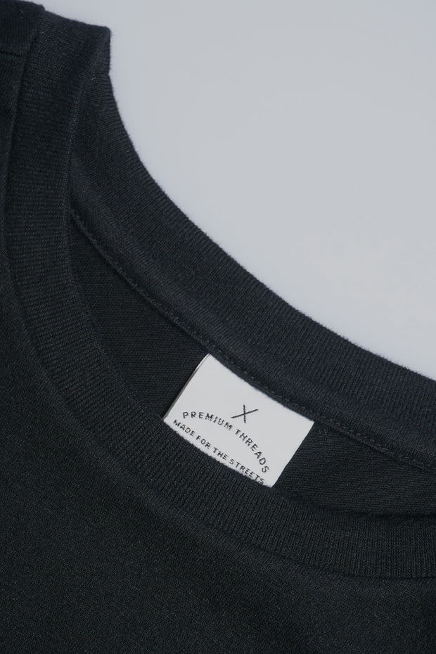 Premium Threads Regular Fit Tee With Rubber Patch