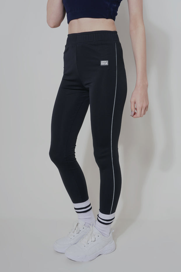 Premium Threads High Waist Leggings With Reflective Taping