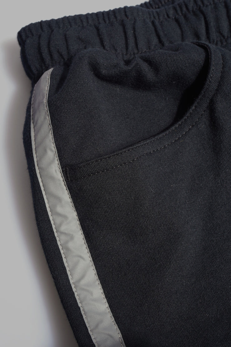 Premium Threads Knit Runner Shorts With Reflective Taping