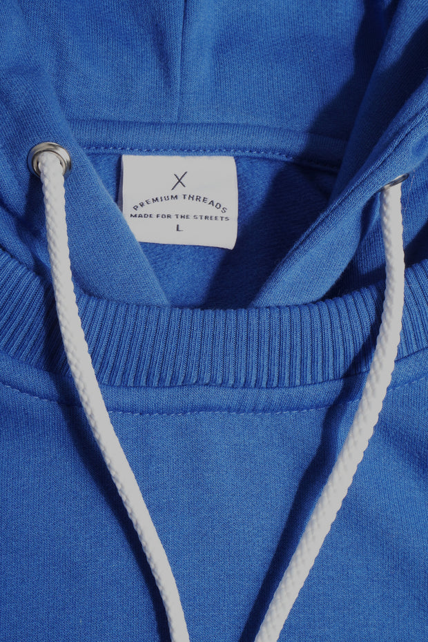 Premium Threads Hoodie With Rubber Patch