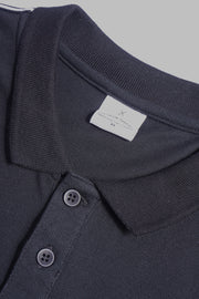 Premium Threads Boxy Polo Shirt With Contrast Taping