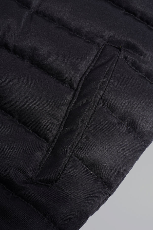 Premium Threads Puffer Hoodie With Contrast Trim