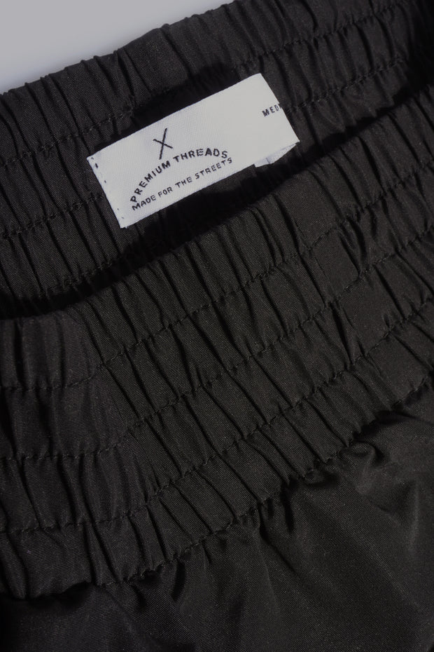 Premium Threads Woven Track Shorts With Rubber Patch