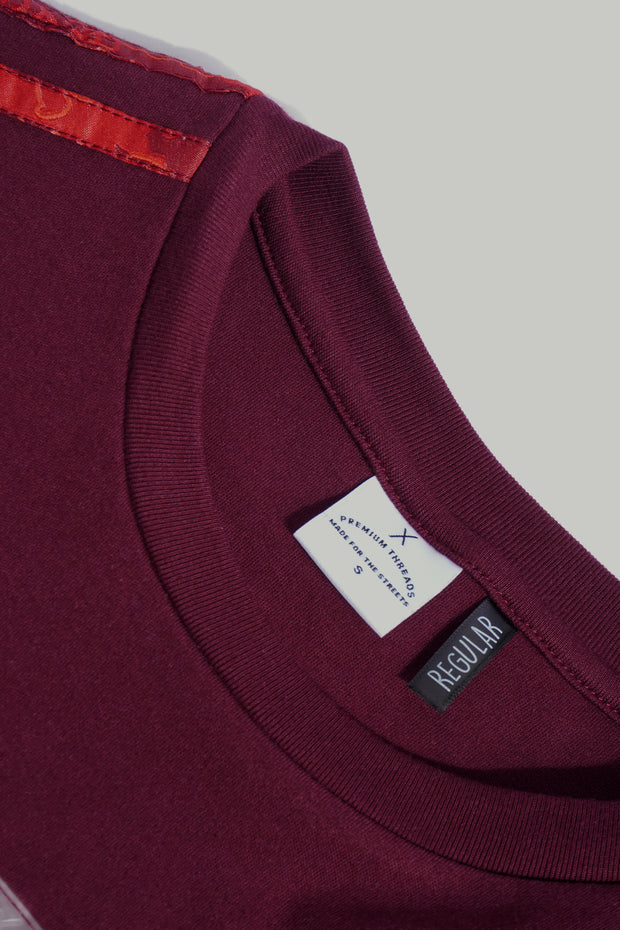 Premium Threads Regular Fit Tee With Contrast Piping