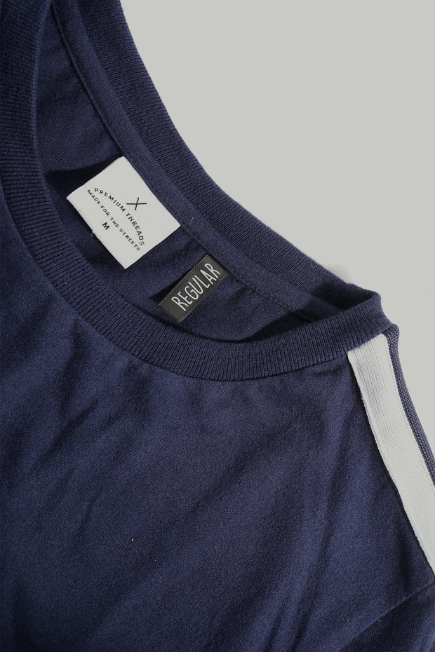 Premium Threads Regular Fit Tee With Shoulder Taping