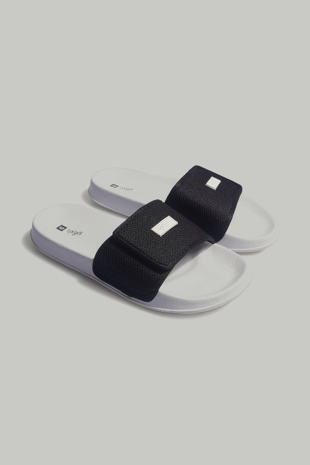 Ladies' Velcro Slides With Rubber Patch