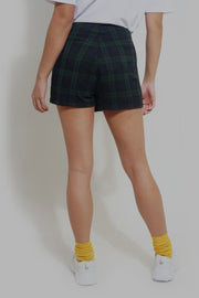 Checkered  Skort With Hardware Detail