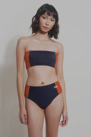 Tube Bikini Set With Color Blocking