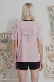One Piece Oversized Fit Ringer Tee With Chopper Special Print