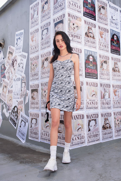 One Piece Slip Dress With Wanted All-Over Print