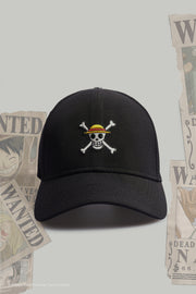 One Piece Skull Logo Curved Cap With Embroidery