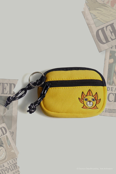 One Piece Coin Purse With Thousand Sunny Embroidery