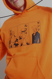 One Piece Hoodie With Luffy, Zoro, and Sanji Special Print