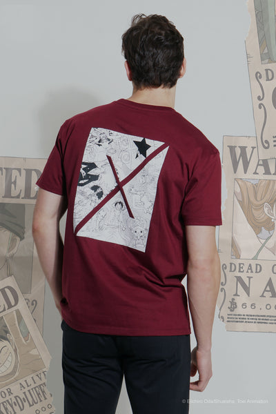 "One Piece Easy Fit Tee With ""X"" Back Graphic Print"