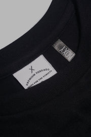 Premium Threads Boxy Fit Tee With Embroidery