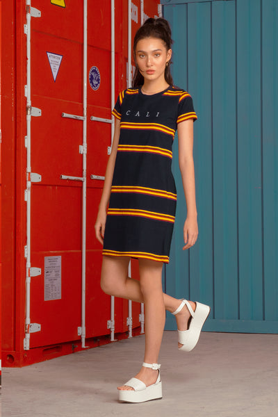 CALI Regular T-Shirt Dress With Embroidery