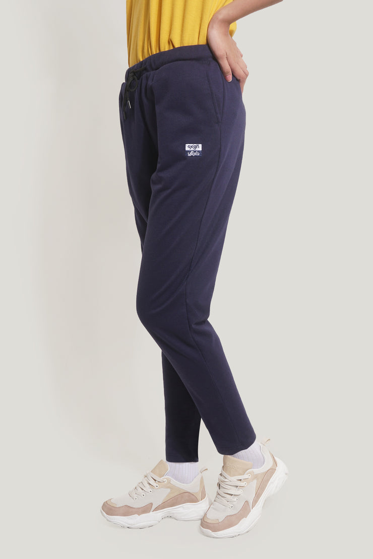 Premium Threads Mid Waist Track Pants With OXGN Embro