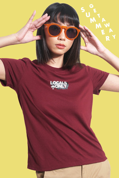 Locals Only Regular Fit Tee With Graphic Print