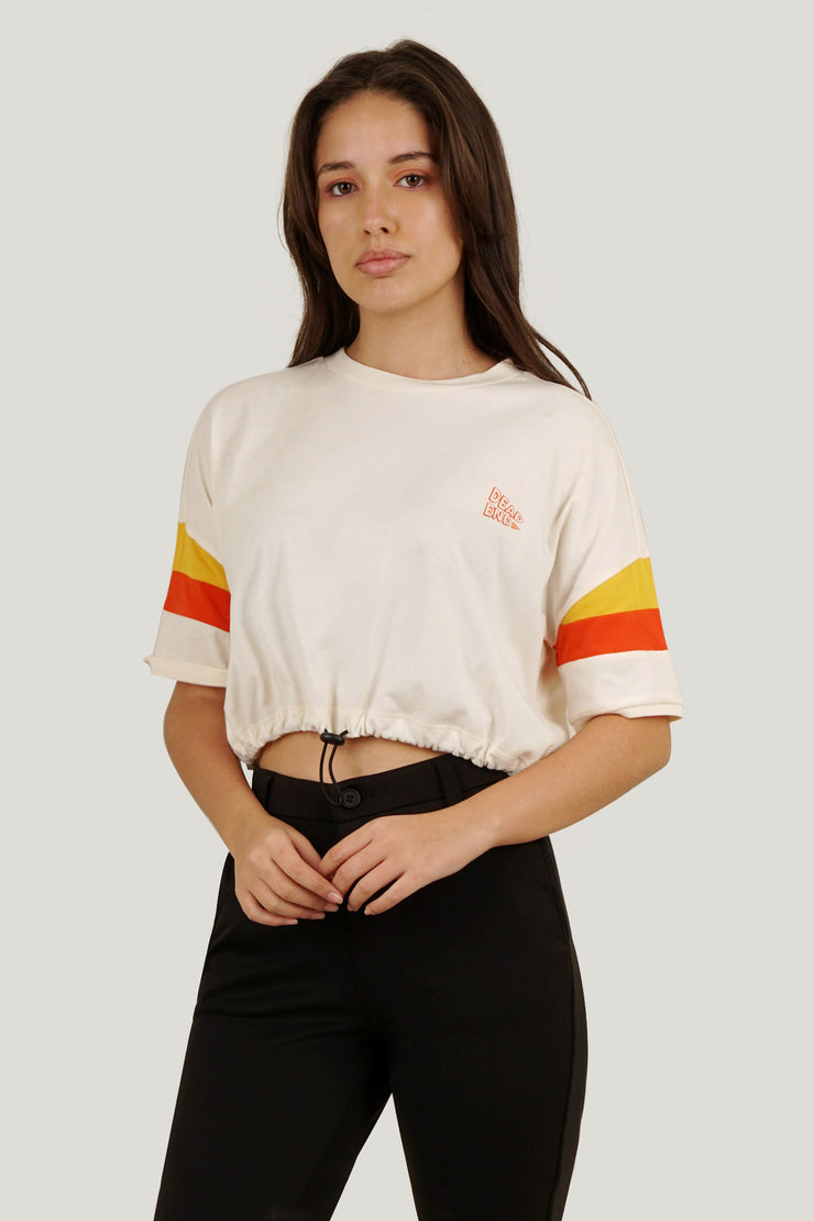 Cropped Top With Color Blocking