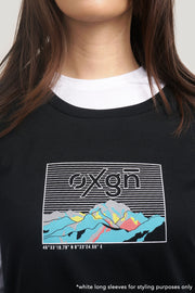 OXGN Terrain Regular T-Shirt Dress With Special Print Effect