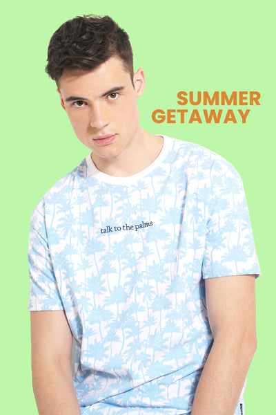 Talk To The Palms Easy Fit Tee With All Over Print