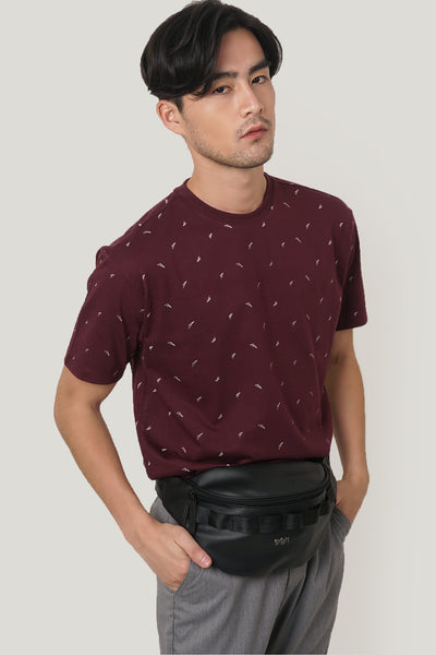 Mountains Easy Fit Tee With All Over Print